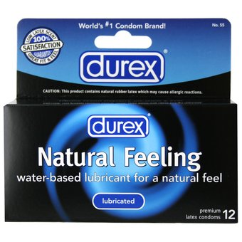 Durex Natural Feeling Lubricated Condoms (12 Pack)