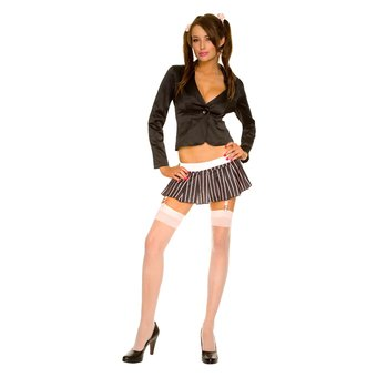 Music Legs Head Girl Jacket and Skirt Set