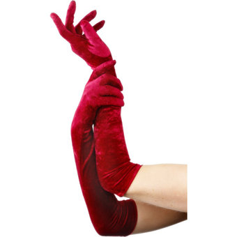 Fever Long Velvet Gloves