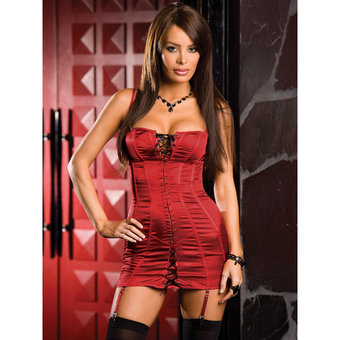 Dreamgirl Satin Shantung Corset Dress