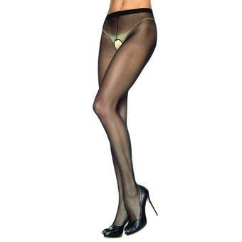 Leg Avenue Sheer Nylon Crotchless Tights