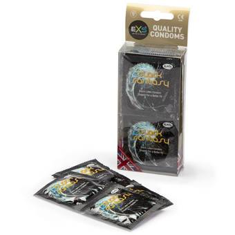 EXS Black Fantasy Coloured Condoms (12 Pack)