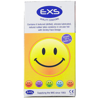 EXS Smiley Face Condoms (6 Pack)