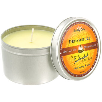 Earthly Body 3-in-1-Massagekerze - Dreamsicle - 192 g