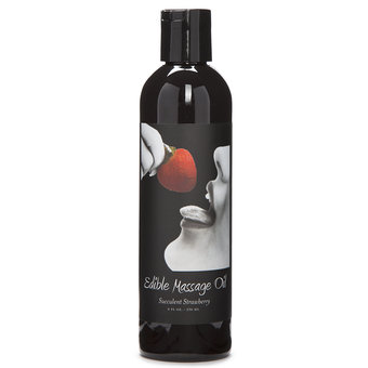 Earthly Body Strawberry Edible Massage Oil 236ml