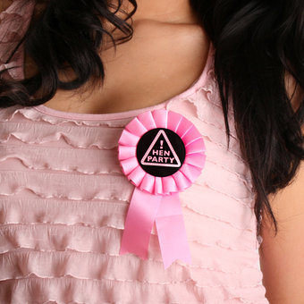 Hen Party Rosette Badge
