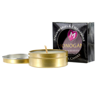 Monogamy Strawberries & Champagne intime Massagekerze 25 g