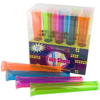 Cocktail Party Multicolour Test Tube Shot Glass Set (15 Pack)