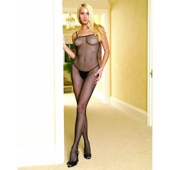 Leg Avenue Seamless Spaghetti Strap Fishnet Bodystocking