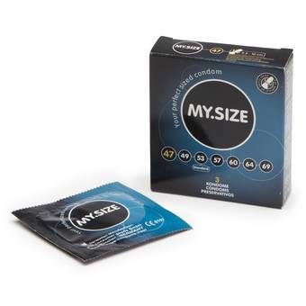 MY.SIZE 47mm Snug Condoms (3 Pack)
