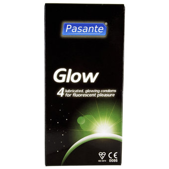 Pasante Glow in the Dark Condoms (4 Pack)
