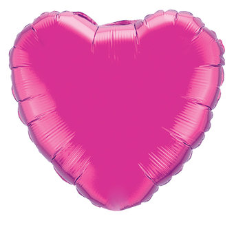 Heart Shaped Pink Helium Balloon