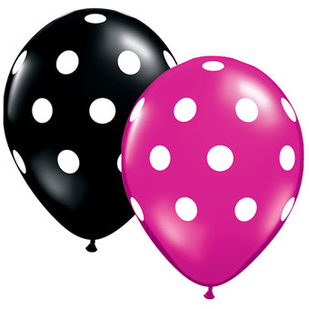 Big 11 Inch Polka Dot Balloons (25 Pack)