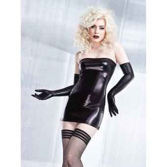 Coquette Darque Wet Look Tube Dress