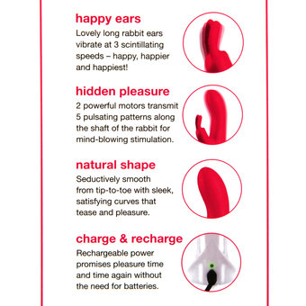 Lovehoney Happy Rabbit Natural Rechargeable Rabbit Vibrator