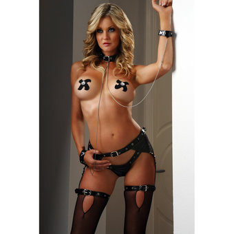G World Rated X Savage Studs PVC Slave Wear
