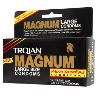 Trojan Magnum Warming Lubricated Condoms (12 Pack)