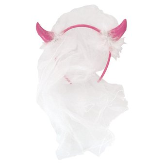 Horny Hen Night Veil and Horns