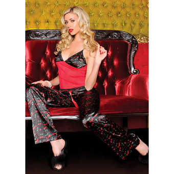 Seven Til Midnight Cherry Print Pyjama Trouser Set