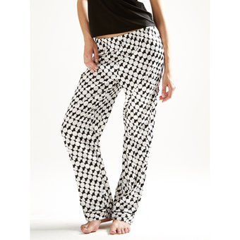 BlueBella Adore Satin Heart Print Pyjama Trousers