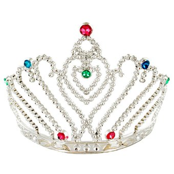 Silver Jewelled Heart Hen Party Tiara