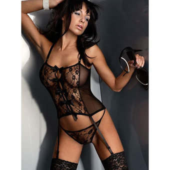 Livia Corsetti Floral Lace Basque Set