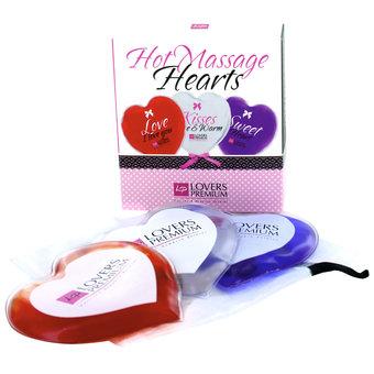 Lovers Premium Hot Massage Hearts (3 Pack)