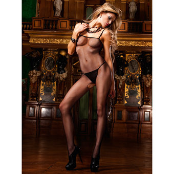 Baci Lingerie Fishnet Crotchless Bodystocking