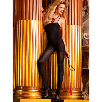 Baci Lingerie Opaque Crotchless Bodystocking