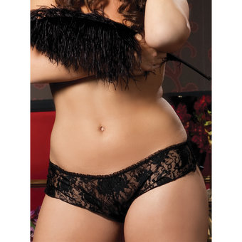 Seven Til Midnight Plus Size Paisley Lace Knickers