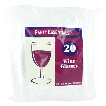 Plastic Wine Glasses (20 Pack)