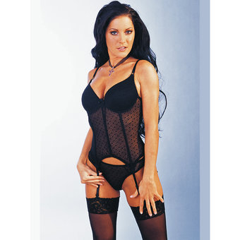 Cottelli Basque with Adjustable Straps and Thong