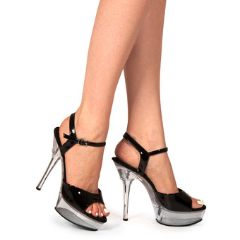 Pleaser Allure Clear Platform Stilettos