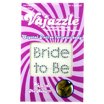 Vajazzle Bride to Be Body Tattoo
