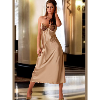 Obsession Dakota Elegant Long Satin Nightdress