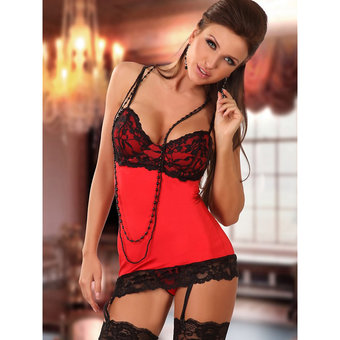 Beauty Night La Luna Lace Corselette and G-String