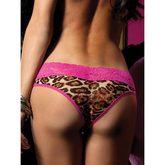 Seven Til Midnight Plus Size Sheer Leopard Print Boyshort Knickers
