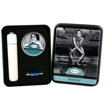 Swoon Shimmy Bullet Vibrator in a Tin with Orgasm Balm (new window)