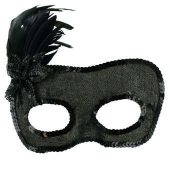 Masquerade Feather Burlesque Mask