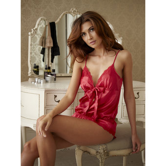 BlueBella Scarlet Boudoir Satin Playsuit