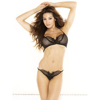Fantasy See Through Butterfly Bra and Thong Set