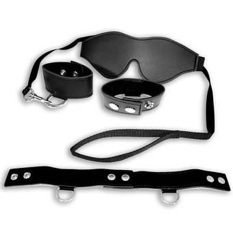 Sex & Mischief Blindfold Collar and Handcuffs Bondage Kit