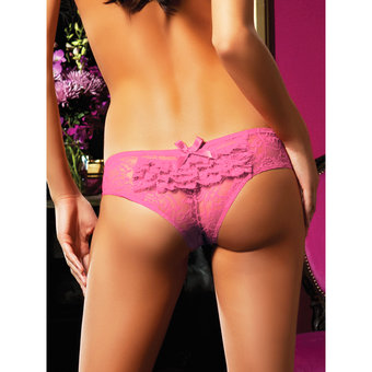 Seven Til Midnight Crotchless Lace Boyshort Knickers