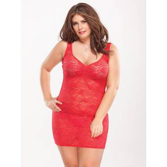 Coquette Kissable Plus Size Floral Lace Sexy Dress