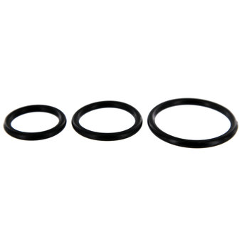 Spartacus Stretch Rubber Cock Ring Set (3 Pack)