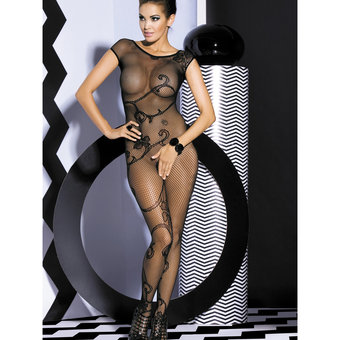 Obsessive Short Sleeve Fishnet Bodystocking
