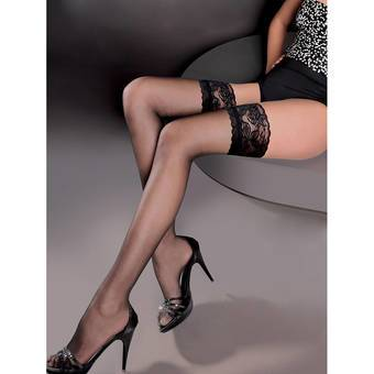 Gabriella Lace Top Sheer Hold Up Stockings