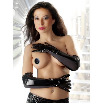 Black Level Elbow Length PVC Gloves