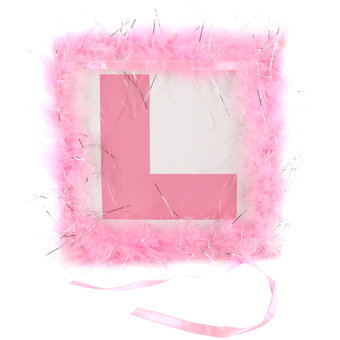 Hen Party Fluffy L Plate Badge