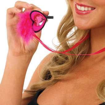 Hen Party Fluffy Heart Whistle